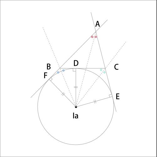 傍心の証明図