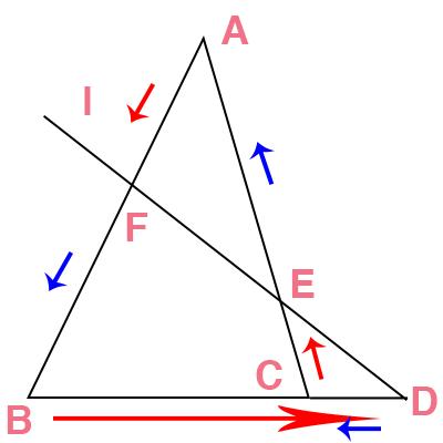 メネラウスの公式の覚え方の図解