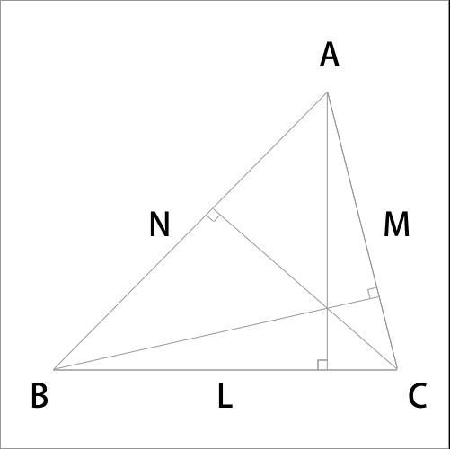 三角形の垂心を表した図