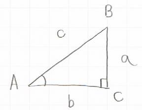 三角比の対象となる直角三角形