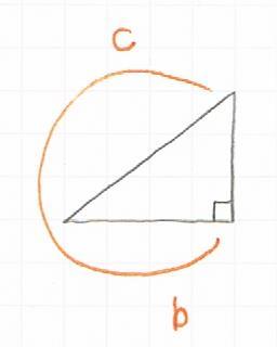 三角比Cosの覚えかたの図